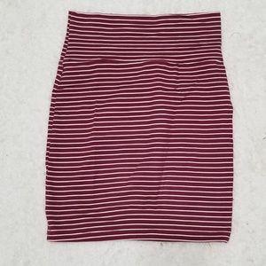 🛒 Charlotte Russe XS Bandage Stripe Skirt